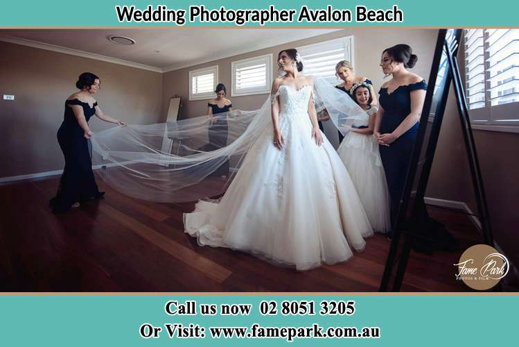 Photo of the Bride and the secondary sponsor preparing Avalon Beach NSW 2107