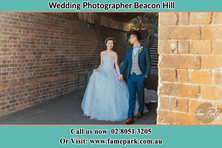Photo of the Bride and the Groom walking Beacon Hill NSW 2100
