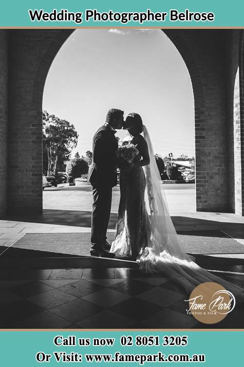 Photo of the Groom and the Bride kissing Belrose NSW 2085
