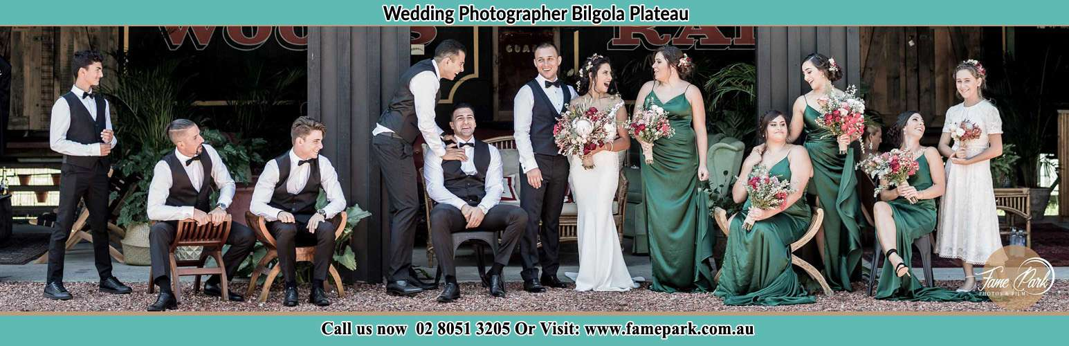 Photo of the Groom and the Bride with the entourage Bilgola Plateau NSW 2107