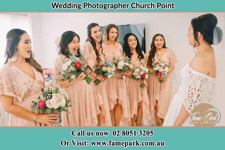 Photo of the Bride and the bridesmaids Church Point NSW 2105