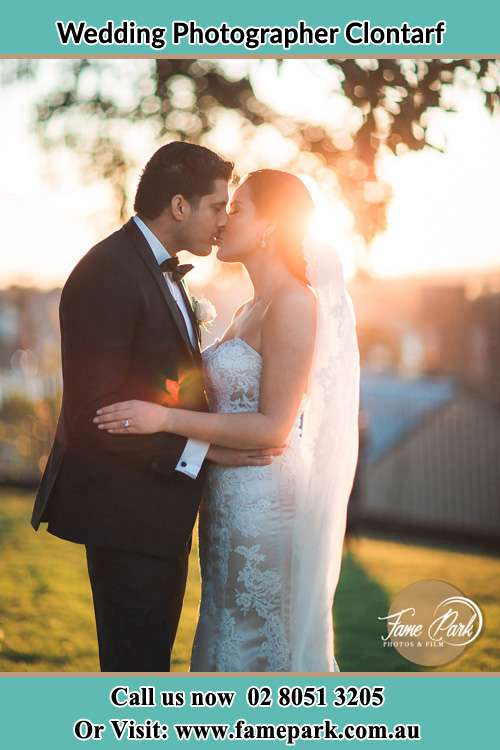 Photo of the Groom and the Bride kissing Clontarf NSW 2093