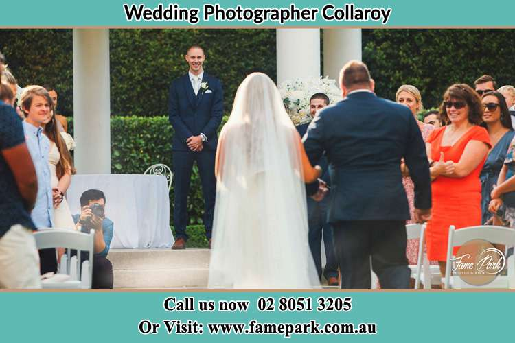 Photo of the Bride with her father walking the aisle Collaroy NSW 2097