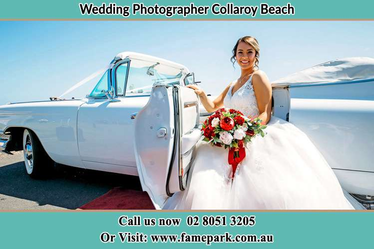 Photo of the Bride just went out the bridal car Collaroy Beach NSW 2097