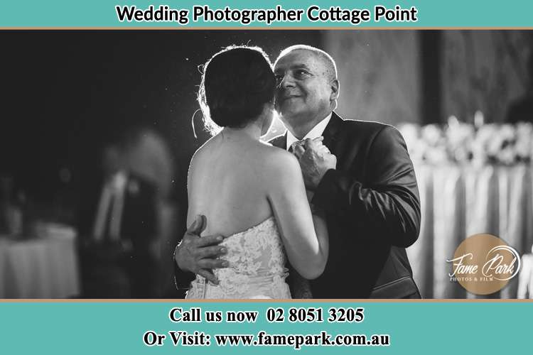 Photo of the Bride dancing with her father Cottage Point NSW 2084