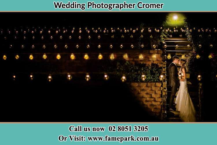 Photo of the Bride and the Groom kissing Cromer NSW 2099