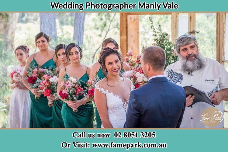 Photo of the Bride and the Groom at the matrimony Manly Vale NSW 2093