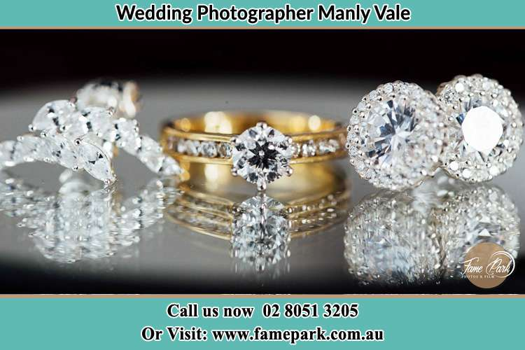 Photo of the Bride's cliff, ring and earrings Manly Vale NSW 2093