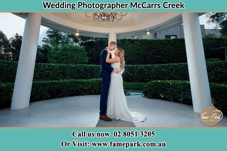 Photo of the Groom and the Bride dancing McCarrs Creek NSW 2105