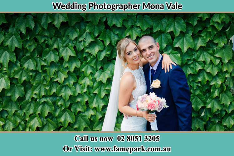 The Bride and the Groom smiling on the camera Mona Vale NSW 2103