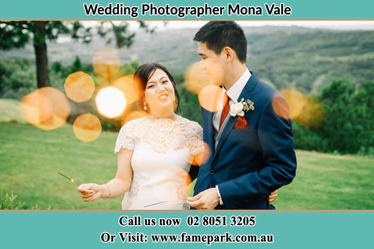 Photo of the Bride and the Groom at the yard Mona Vale NSW 2103