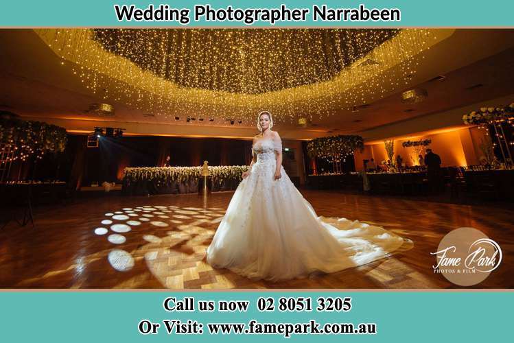 Photo of the Bride at the dance floor Narrabeen NSW 2101